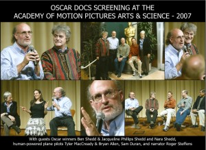 OSCAR Docs Screening 2007 Guest panel for THE FLIGHT OF THE GOSSAMER CONDOR screening.  Photos courtesy of A.M.P.A.S. [Click to Enlarge Photo]