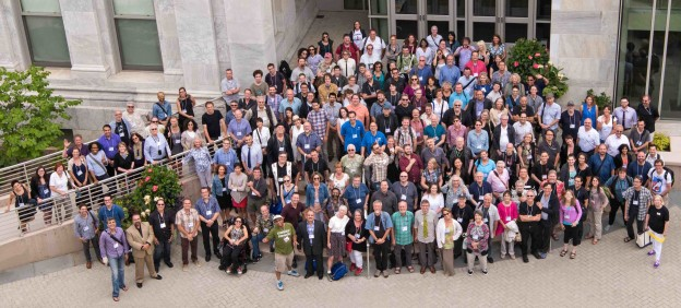 UFVA 2015 Conference at American University. First row, green plaid shirt, amongst many old and new friends and colleagues, teachers of film and video from throughout the USA.